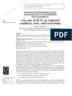 Theresa Jefferson - The Use of ICTs in Regional Conflict, War and Terrorism