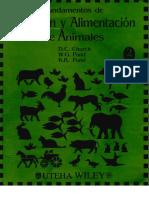 Nutricin y Alimentacin de Animales CHURCH