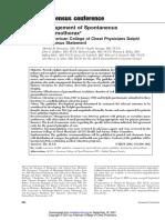 2001 - ACCP - Management of Spontaneous Pneumothoraks