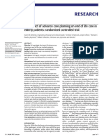 2009 - The Impact of Advance Care Planning on End of Life Care in Elderly Patients