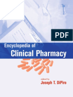 Encyclopedia of Clinical Pharmacy by Joseph T. DiPiro