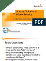 David Bonbright Presentation - Constituency Voice - 1.27.10