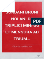Giordano Bruno - De triplici minimo et mensura
