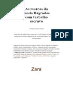 As Marcas Da Moda Flagradas Com Trabalho Escravo _ Repórter Brasil