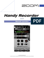 Zoom Handy Recorder version 2.0 Manuale Operativo
