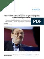 """A Morte de Umberto Eco_ """"Não Sabe, Senhorita, Que Os Ginecologistas Também Se Apaixonam_"""" _ Opinião _ EL PAÍS Brasil"""