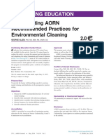 Implementing Aorn Recommended Practices for Environmental Cleaning