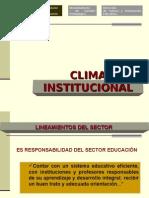 CLIMA INSTITUCIONAL - CONVIVENCIA