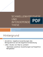 Schwellenhypothese Und Interdependenzhypothese