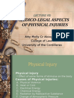 Medico-Legal Aspects of Physical Injuries