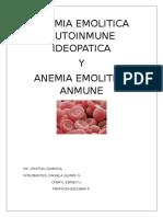 Anemia Emolitica Autoinmune Ideopatica