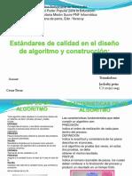 ESTÁNDARES DE CALIDAD EN EL DISEÑO DE ALGORITMO Y CONSTRUCCION