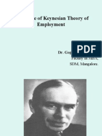 An Outline of Keynesian Theory of Employment