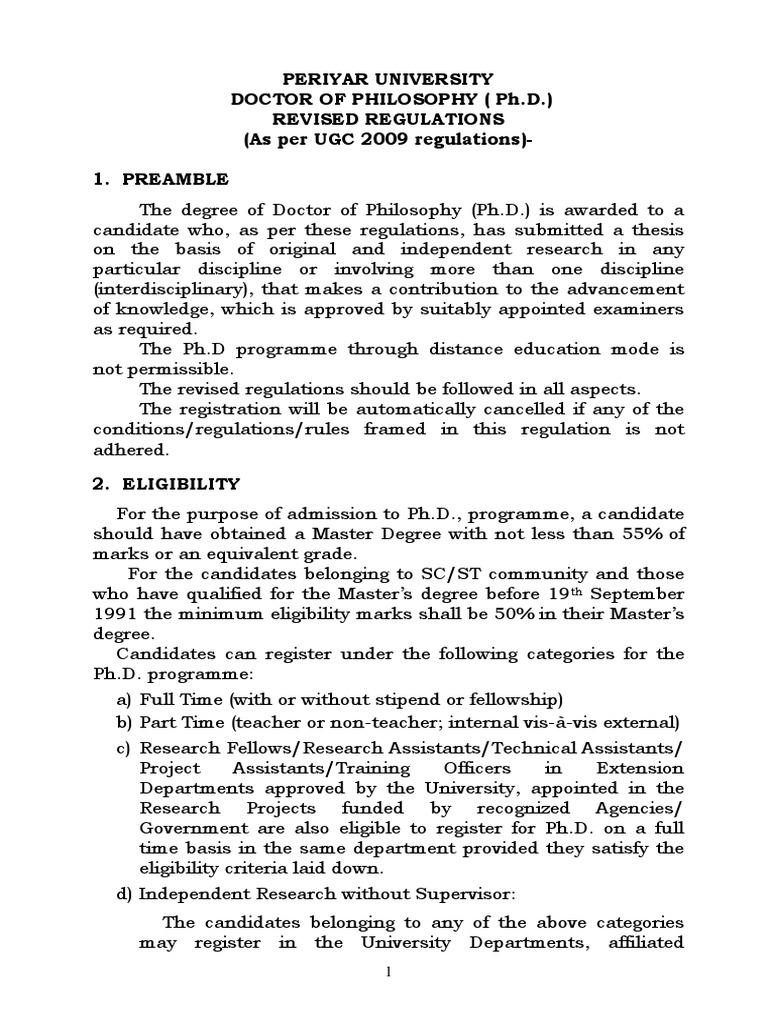 periyar university m phil thesis format