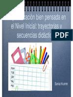 La Planificación Bien Pensada en El Nivel Inicial - Secuencias Didácticas