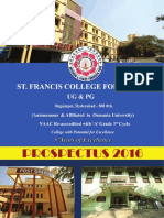 Final St Francisl- Prospectrus 2016
