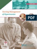 Nursing Management of Hypertension