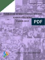 Dokumen Indeks Kesejahteraan Rakyat (Inskersa) Kabupaten Buru, Provinsi Maluku tahun 2015