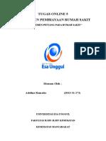 Tugas Online 5 Manajemen Pembiayaan Rumah Sakit Adelina Romaito 2013-31-173
