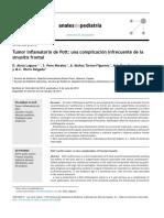 Tumor Inflamatorio de Pott Una Complicación Infrecuente de Lasinusitis Frontal