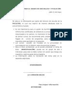 Información Patrabajo ra El Grado de Bachiller y Titulación