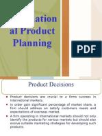 International Product Planning