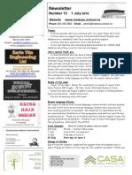 Newsletter Term 2 Week 9