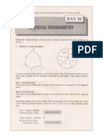 1001 Solved Problems in Engineering Mathematics [Day 10 Spherical Trigonometry]