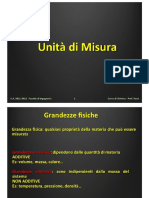 Lezione 01 - Unità Di Misura