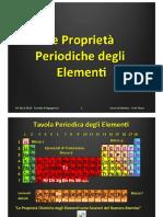 Lezione 05 - Proprietà Periodiche Degli Elementi