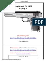 Le pistolet FN 1903 expliqué