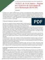 Dec. Lei Nº 10-2015 - Rjacsr