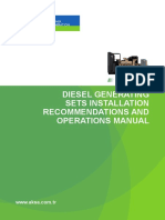 AKSA Diesel Generating Sets Installation Recommendations and Operations Manual-En