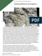 Como Reconocer Minerales Primarios