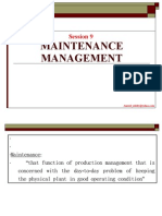 Session 9 Maintenance Management