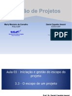 O Escopo de Um Projeto