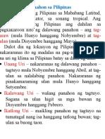 Apat Na Uri Ng Klima Sa Pilipinas Batay Sa Dami Ng Ulan