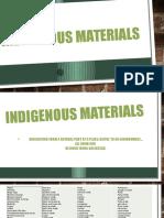 indigenous materials