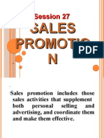 Session 27 Sales Promotion