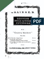 Country Gardens Grainger Piano Score