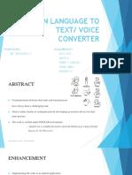 Sign Language to voice converter