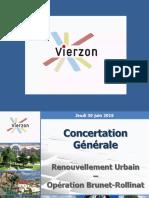 Présentation du programme de rénovation urbaine du quartier Brunet-Rollinat