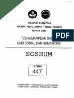 SBMPTN 2013 IPS