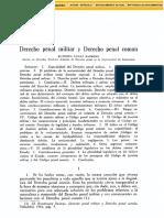 Derecho Penal Militar y Derecho Penal Común