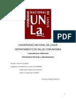 Universidad Nacional de Lanùs- Pensamient