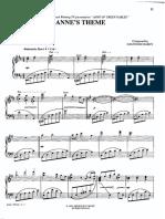 Anne's Theme Sheet Music