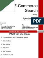 E-Commerce Search Using Apache Solr