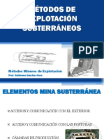7. Métodos de Explotación Subterráneos