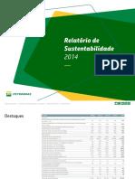 Relatorio de Sustentabilidade 2014 Petrobras