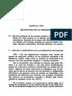Llambias, Jorge J - Tratado de Derecho Civil Parte General - Tomo I - PRIMERA SECCIÓN - EL SUJETO - Teoría General de La Persona - Capítulo VIII - EXTINCIÓN de LA PERSONA
